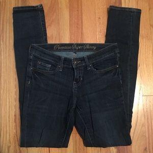 GAP dark denim skinny jeans.